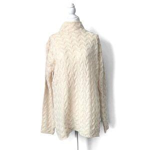 ARAN CRAFTS Merino Wool Knit Oversize Sweater Sz M